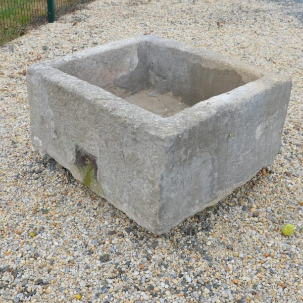 Antique French limestone deep trough