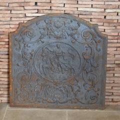 Plaque de cheminée en fonte à l'ancienne