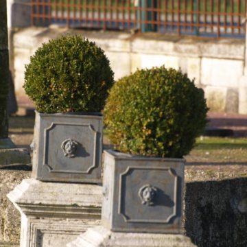 Bac en fonte jardinière