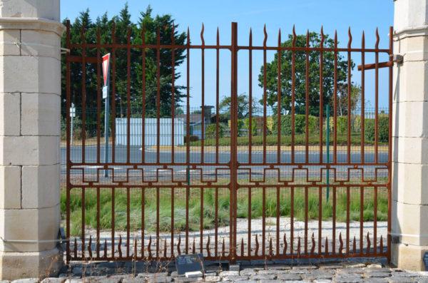 antique ironwork gate for entrance