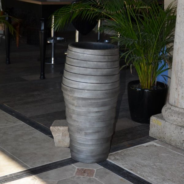 grey concrete color vase