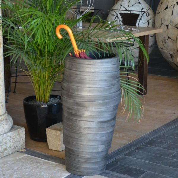 grey concrete vase antique style