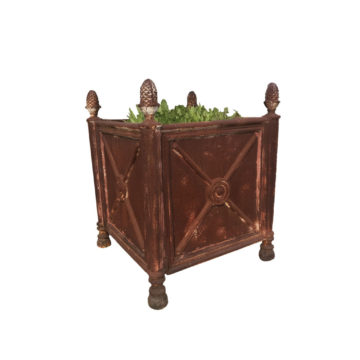 iron orange tree planter reproduction