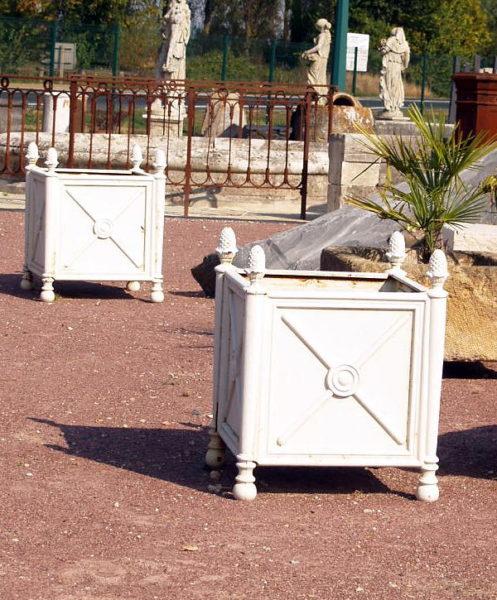 iron white color tree planters