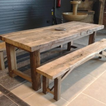 Farmhouse table in antique oak