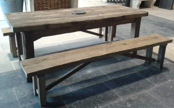 Farmhouse table in antique reclaimed oak