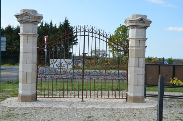 Antique Limestone gateway pillars