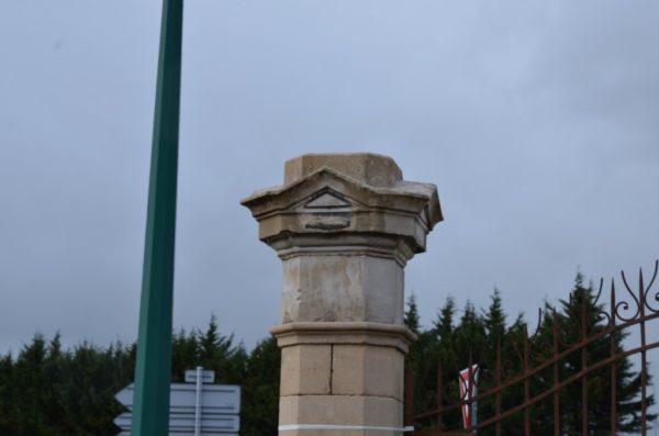 Antique Limestone gateway pillars