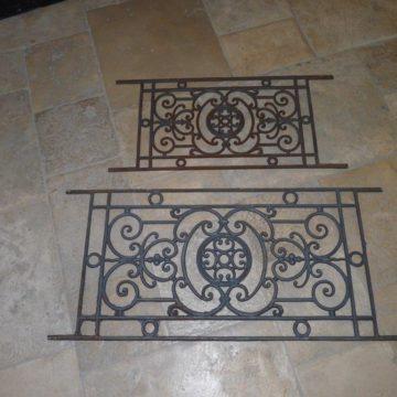 iron guard rails reclaimed iron guard rails bca antique materials. Black Bedroom Furniture Sets. Home Design Ideas