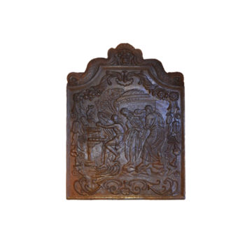 Cast iron fireback of scene mythology
