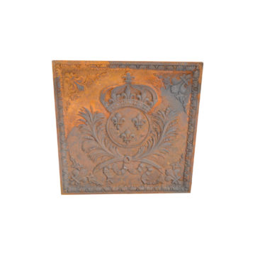 Cast iron fireback reproduction