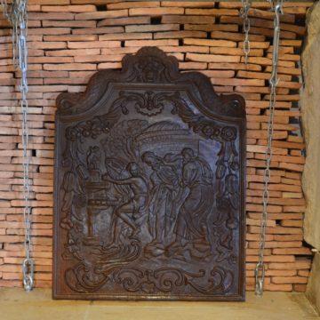 Plaque de cheminée réédition en fonte