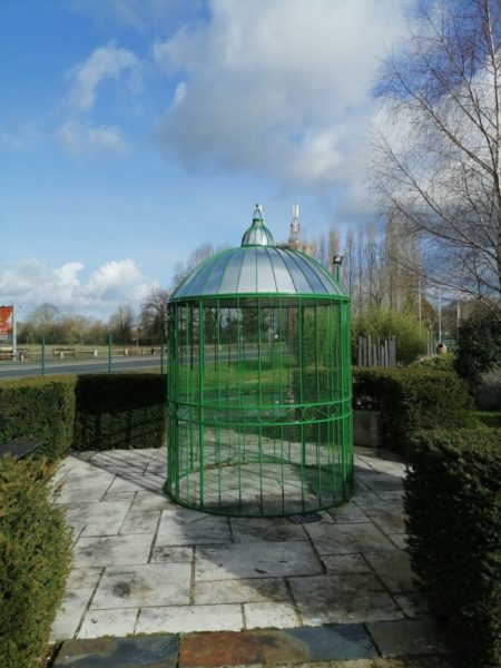 aviary circular gazebo in green color