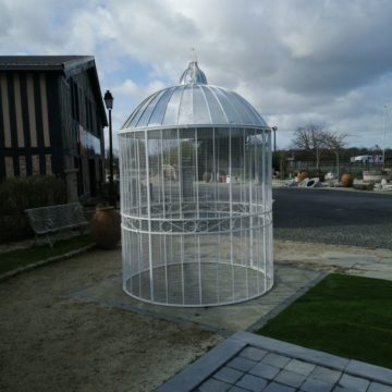 circular gazebo birdcage with a dormed roof