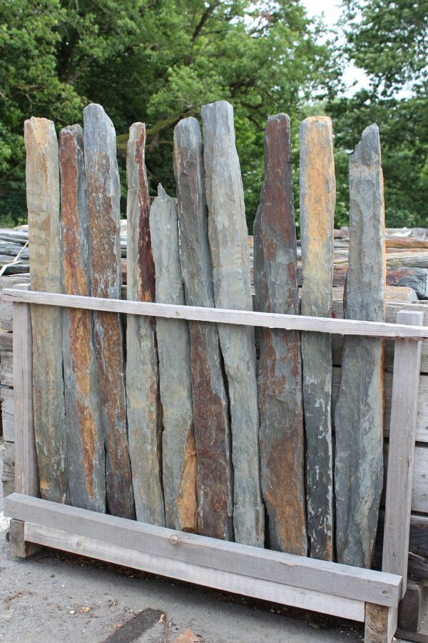 French Vineyard Antique Stakes In Schist