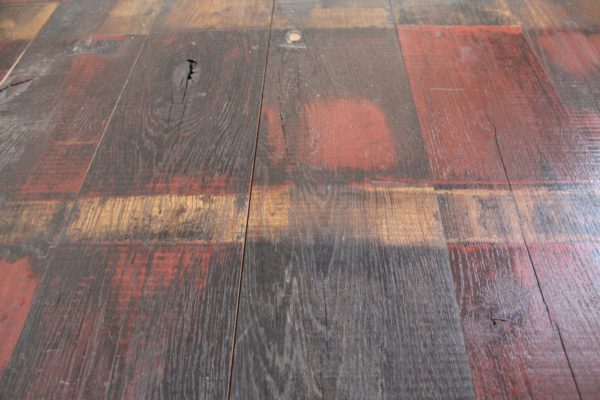 Reclaimed Oak Wagon Boards from Railway with Red sections
