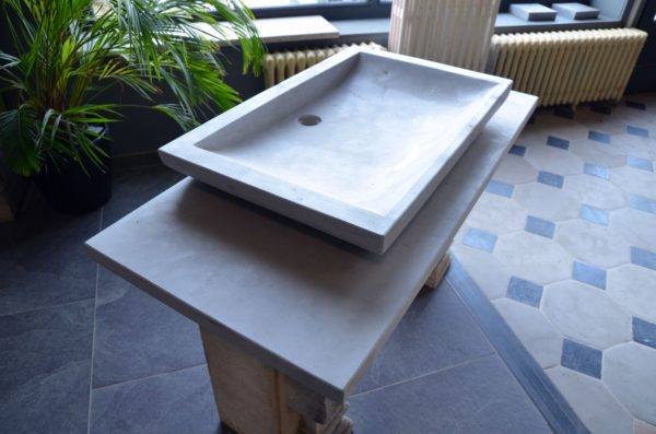 Stone washbasin in natural stone