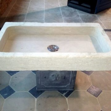 stone sink or washbasin in beige mera stone