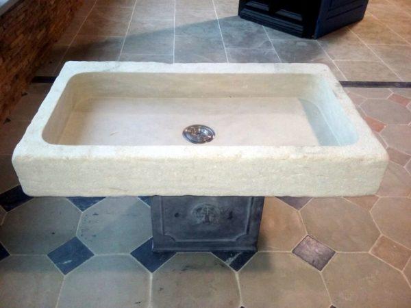stone sink or washbasin in beige mera stone