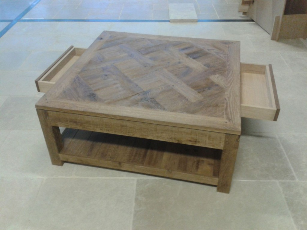 Table basse chene - Table basse chene huile ...