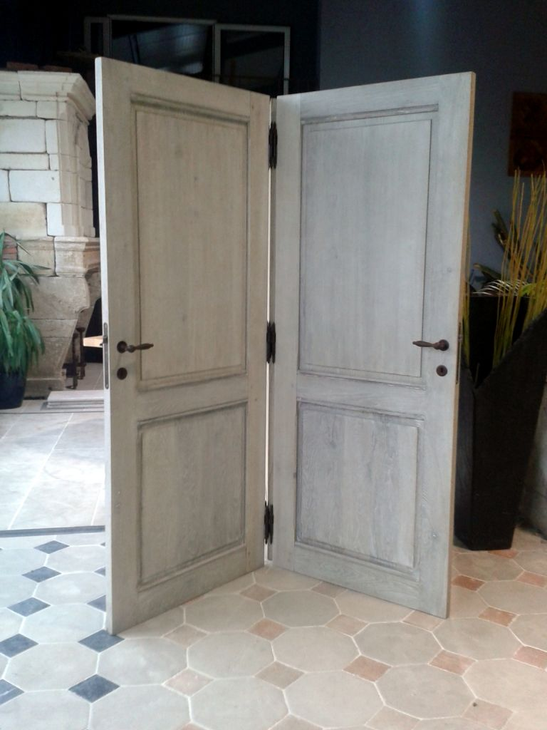 Doors in solid french oak for Solid oak doors