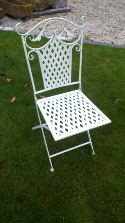 Folding metal bistro chairs - Chaise aluminium bistro ...