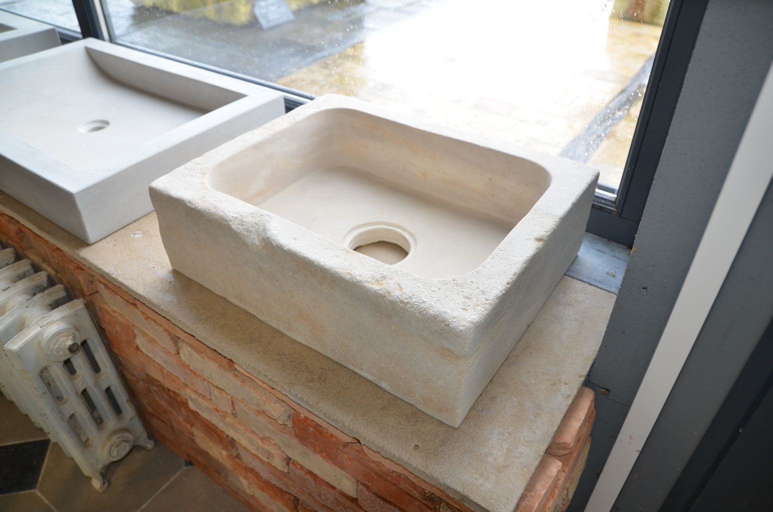 Limestone Sink With Antique Finish Bca Antique Materials