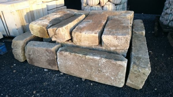antique reclaimed pavement karb stones