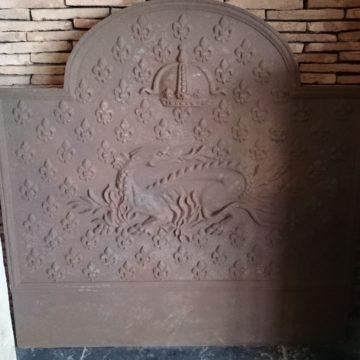Plaque de cheminée ancienne en fonte 100x100cm
