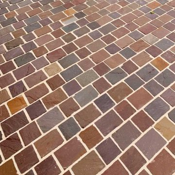 new sandstone pavers