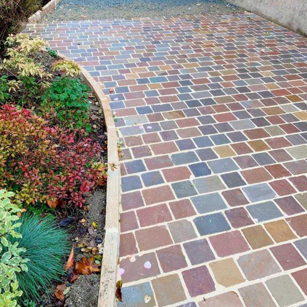 sandstone pavers colorful