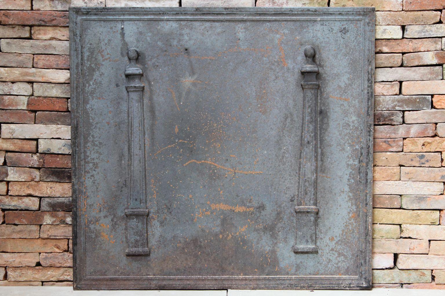 Plaque de chemin e ancienne - Plaque de sol cheminee ...