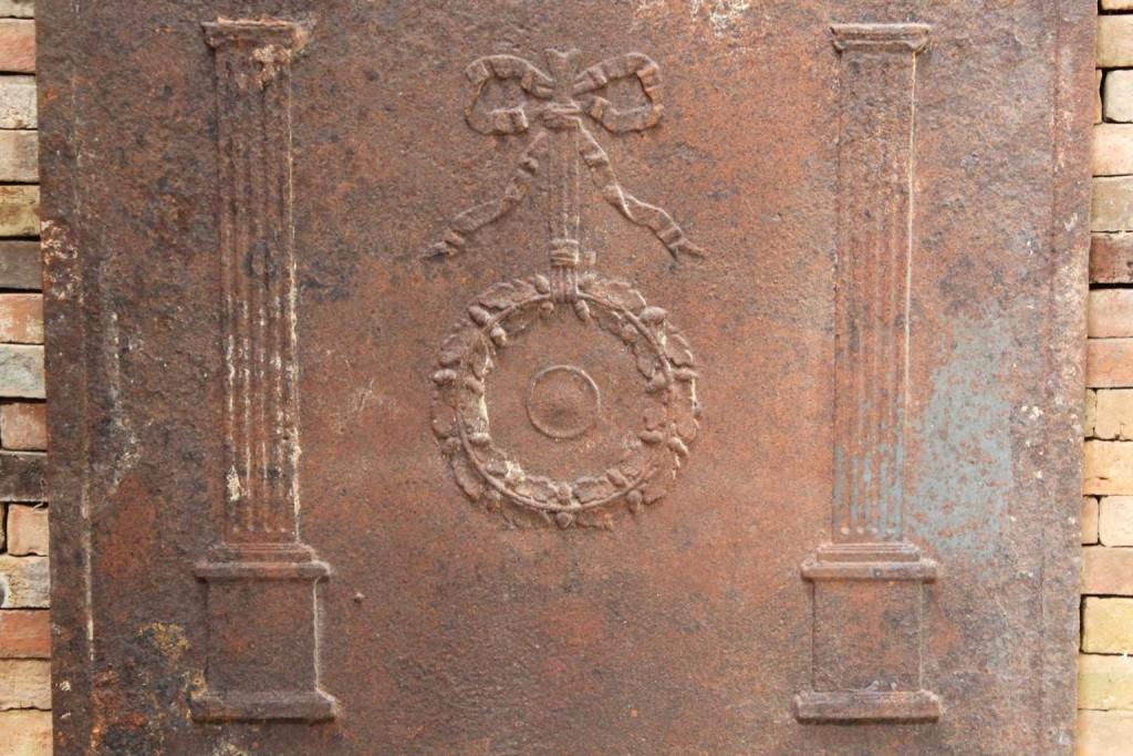 Antique Cast Iron Fire Back