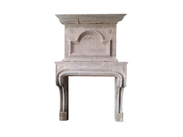 antique french fireplace with overmantel