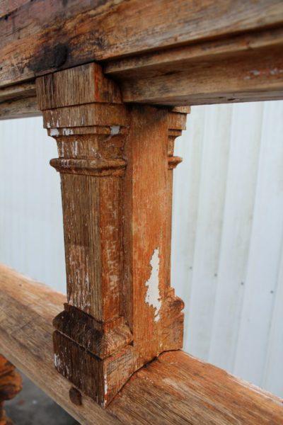 porche avec arcades en chêne