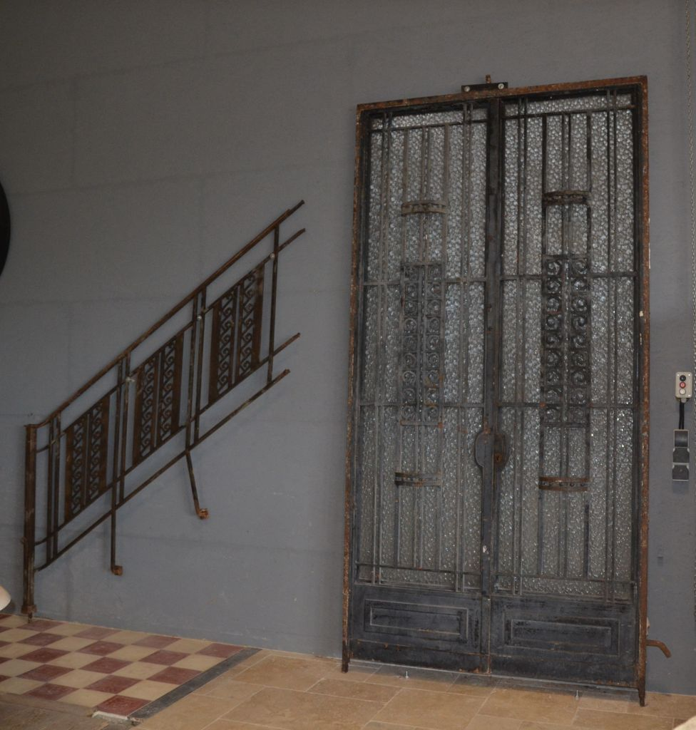 French art deco style forged iron doors with balustrades sciox Images