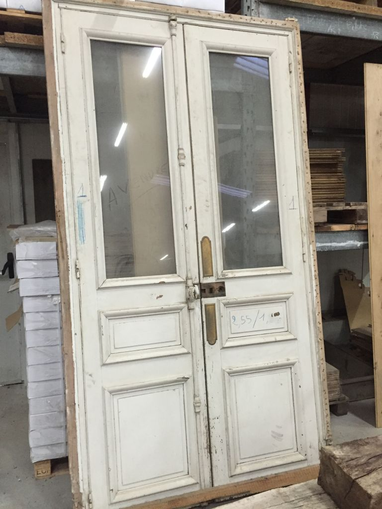 Antique french double interior doors for Double french doors