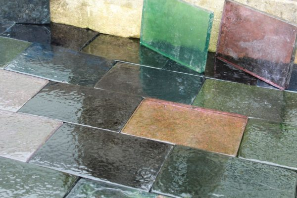 carreaux, dalles de verre multicolor