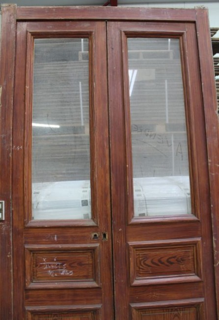 Antique french double interior doors for Recycled interior doors