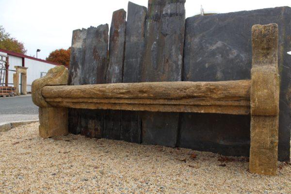Banc ancien pierre calcaire