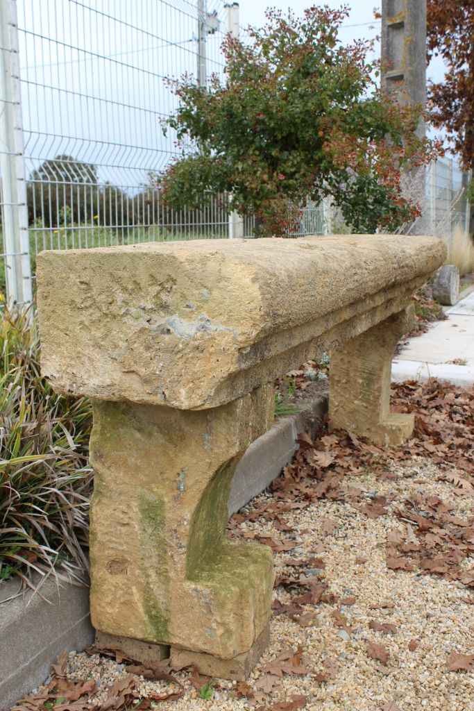 Antique French Limestone Console Table Or Garden Bench