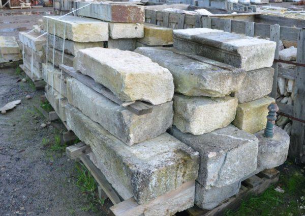 Marche de jardin en pierre