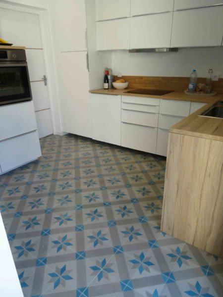 traditional cement tile with star