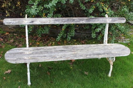 Antique french park bench for Banc jardin fonte