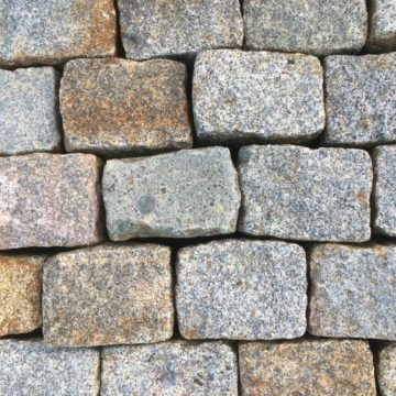 Antique granite setts pavers