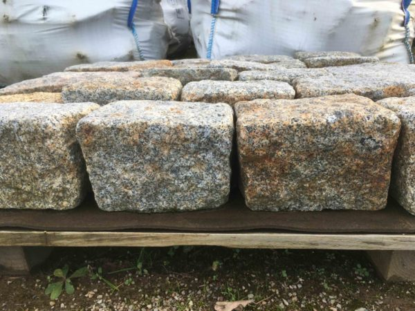 Thickness of our antique pavers in versailles
