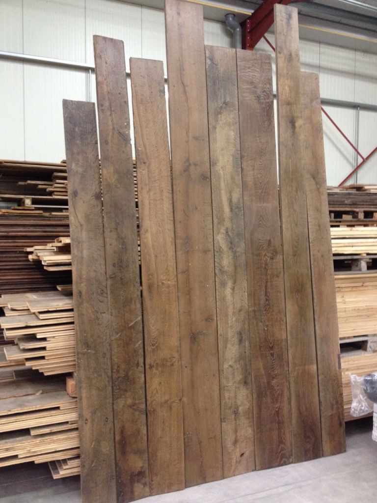 Antique Reclaimed French Oak Floorboards Surface Brushed