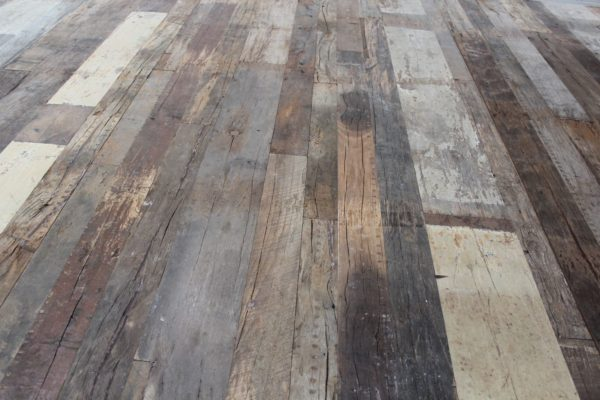 Reclaimed mixed oak flooring