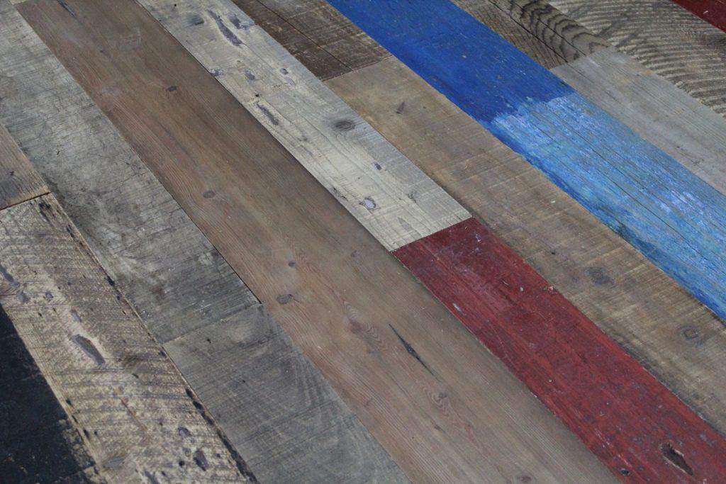 Reclaimed Mixed Pine Parquet Flooring Various Colours