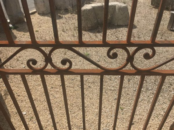 Traditional forged steel gates